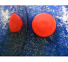 Blue & Red Abstract Photographic Print