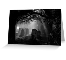 Grave Rays Greeting Card