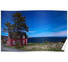 Little Red House in Tors Cove Poster