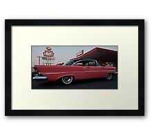 Pink Car and Top Notch Burgers Framed Print