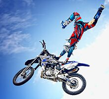 Freestyle Insanity Moto-X Stunt Bike Aerial Team  by Robert Beck