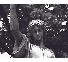 Statue Tombstone Photographic Print