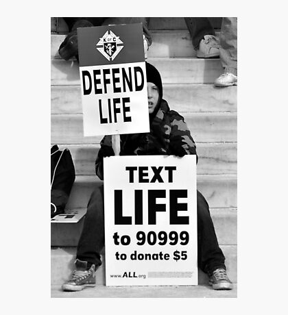 Defend life Photographic Print
