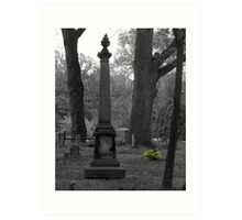 Tombstone with Flowers Art Print