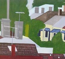 Port Melbourne Rooftops by Joan Wild