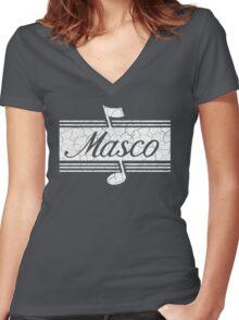 Masco Art Women's Fitted V-Neck T-Shirt