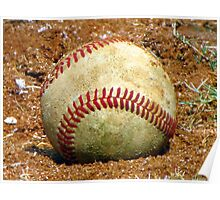 baseball in clay Poster