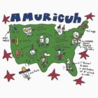 Amuricuh New color T by Ollie Brock