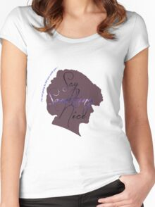 Something Nice Women's Fitted Scoop T-Shirt
