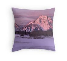 Oxbow Bend Winter Sunrise Throw Pillow