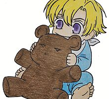 Baby Tamaki Suoh with Kuma-chan the bear by merelyAdreamer