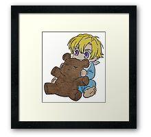 Baby Tamaki Suoh with Kuma-chan the bear Framed Print