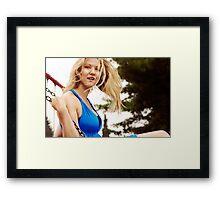 The Blonde Swings Framed Print