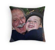 """"""" Memorial Day Hugs Grandpa """" Throw Pillow"""