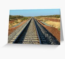 Outback Rail Greeting Card