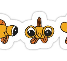 goggle eye fish Sticker