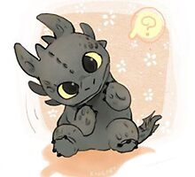 Baby Toothless by nevertoolatexx