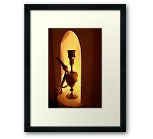 Waterpipe or Hookah by lamp light Framed Print