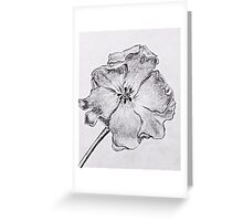 Black and white poppy Greeting Card
