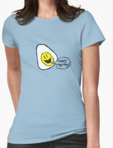 happy egg day! Womens Fitted T-Shirt
