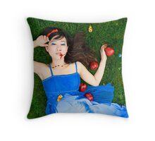 Snow White - Bad Apples Throw Pillow
