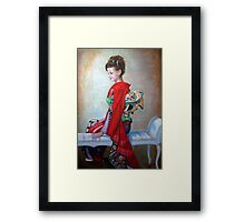 Greeting from Japan Framed Print