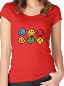 if you're happy and you know it ... Women's Fitted Scoop T-Shirt