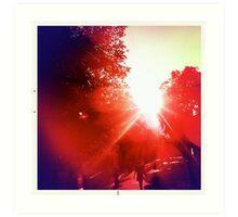 infrared day Art Print