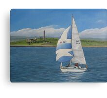 Yachting past Scattery Canvas Print