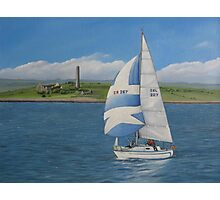 Yachting past Scattery Photographic Print