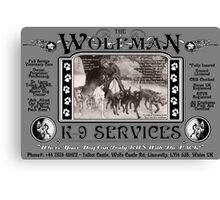 The Wolfman K-9 Services (version 1) Canvas Print