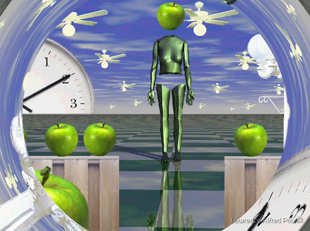 Time vortex with apples  by Lawrence Alfred Powell