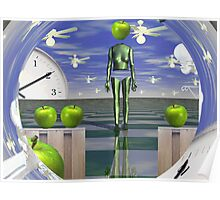 Time vortex with apples  Poster