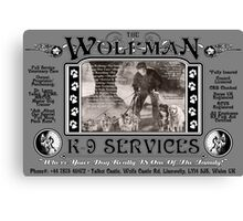 The Wolfman K-9 Services (version 2) Canvas Print