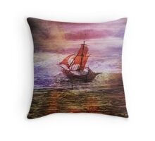 Against the fall of night Throw Pillow