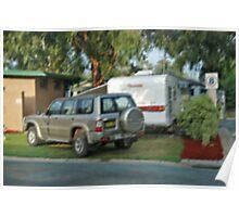 Caravan park impressionist Poster