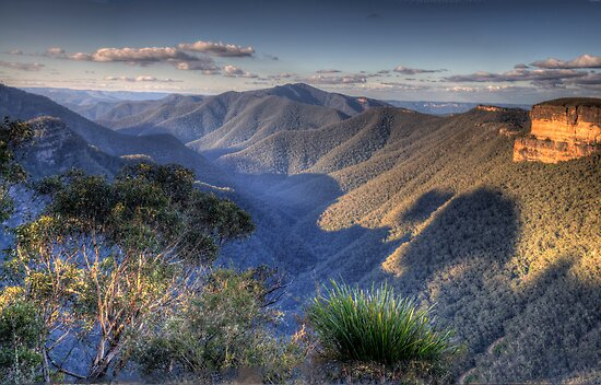 I Love Her Far Horizons - Kanangra Walls Lookout, Blue Mountains World Heritage Area - The HDR Experience by Philip Johnson