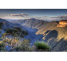 I Love Her Far Horizons - Kanangra Walls Lookout, Blue Mountains World Heritage Area - The HDR Experience Photographic Print