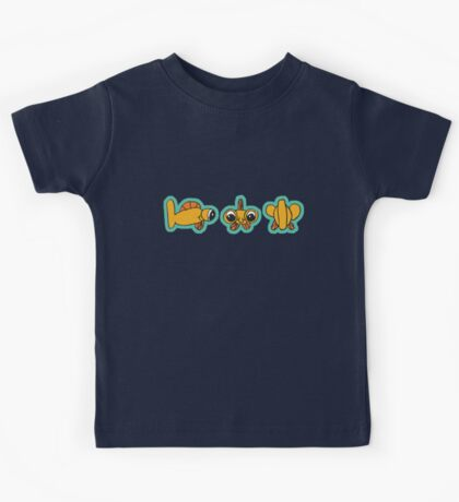 goggle eye fish (outlined) Kids Tee