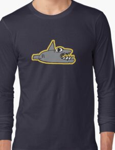 chomp! with outline Long Sleeve T-Shirt