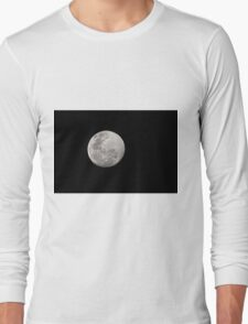 The Moon 28.08.2015 about 7pm Long Sleeve T-Shirt