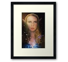 Elven Galaxy Fey Profile Framed Print