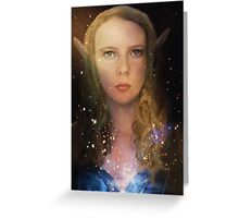 Elven Galaxy Fey Profile Greeting Card