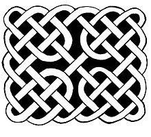 68 - CELTIC KNOTWORK (PICTISH SCHOOL) - DAVE EDWARDS - INK - 1983 by BLYTHART
