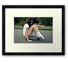 Skater Socks Framed Print