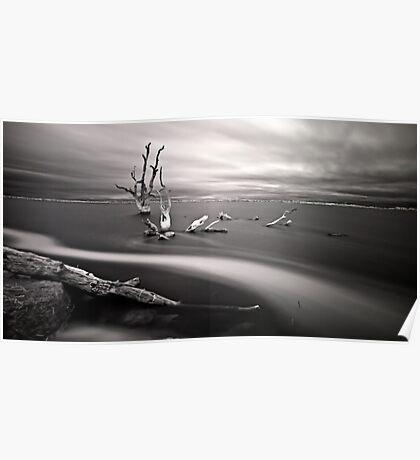 Infrared Lake Bonney Poster