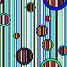 Colorful abstract stripes by Laschon Robert Paul