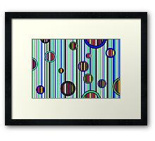 Colorful abstract stripes Framed Print