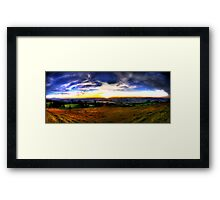 Zugerberg Sunset HDR Panorama Framed Print