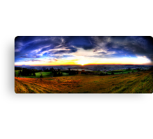 Zugerberg Sunset HDR Panorama Canvas Print
